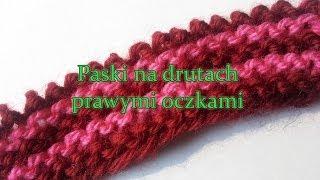 Jak zrobić na drutach szal w paski prawymi oczkami?