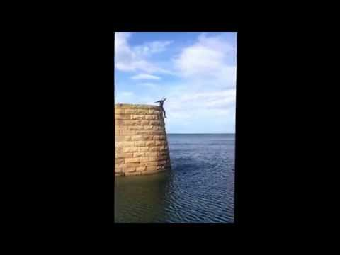 Duking at Buckie harbour