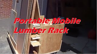 Portable Mobile Lumber Rack
