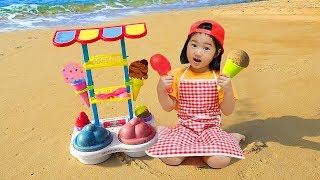 Boram Pretend Play Selling SAND in Ice Cream Toy Shop