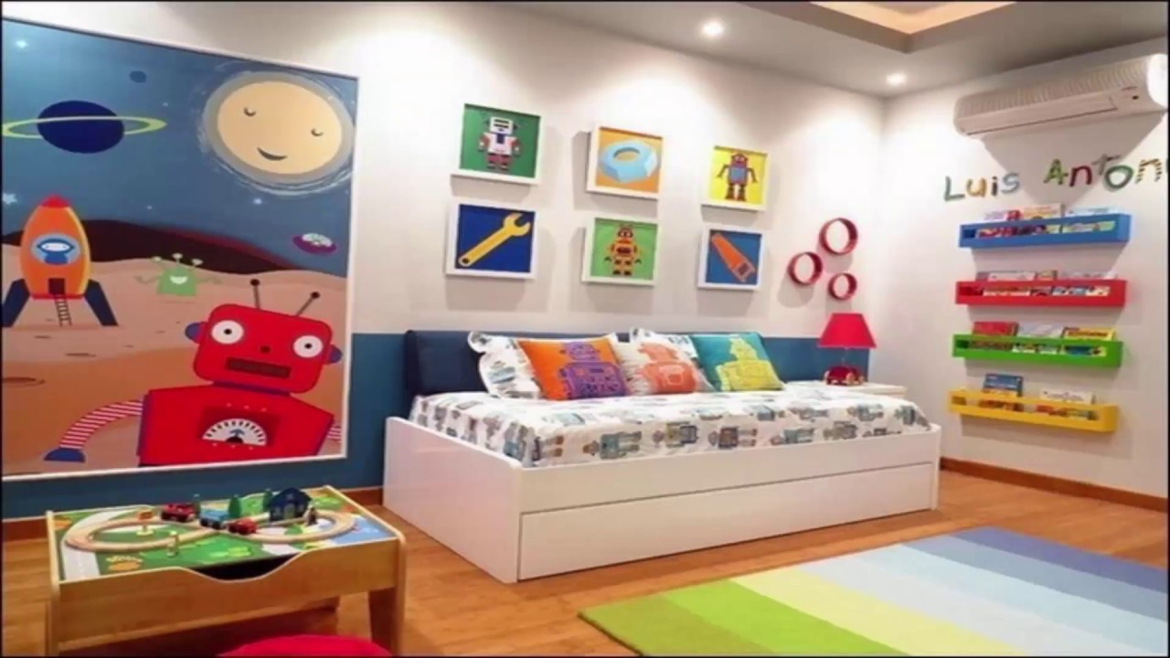 surprising Boys Room Decoration Ideas Part - 16: Awesome Kids Room Ideas|Colourful Kids Rooms( Wall Painting And Decorating)