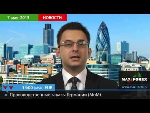 07.05.13 - Прогноз курсов валют. Евро, Доллар, Фунт. MaxiForex