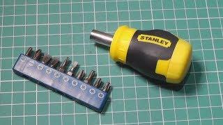 Жирная и короткая отвертка Stanley Stubby Multibit 0-66-357 с битами. Обзор и сравнения