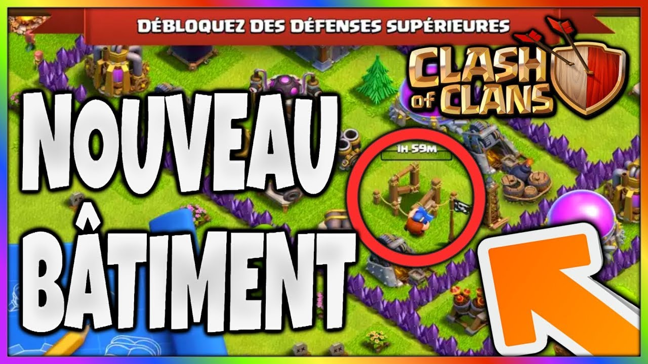 une nouvelle d fense sur clash of clans mise a jour ao t 2017 youtube. Black Bedroom Furniture Sets. Home Design Ideas