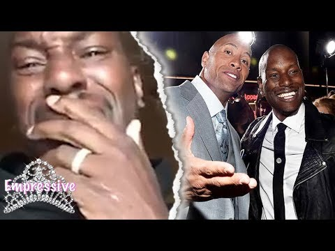 Tyrese has an emotional breakdown on social media | He blames the Rock for losing his daughter!