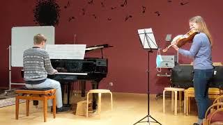 Helene Schaller, Violine und Jakob Graf, Klavier spielen Vokalise von Sergej Rachmaninow