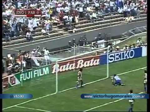 Inglaterra 3 Paraguay 0 (Relato Victor Hugo) Mundial Mexico 1986