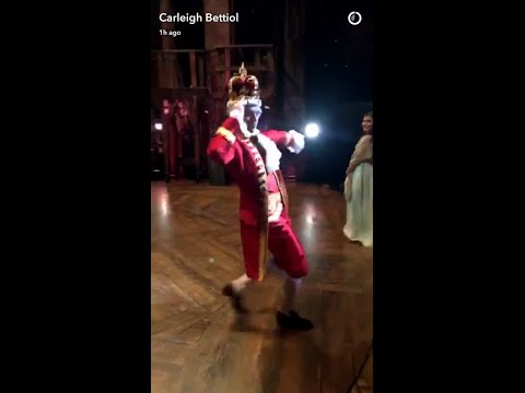 Groffsauce practicing A Chorus Line's One during his Hamilton rehearsal