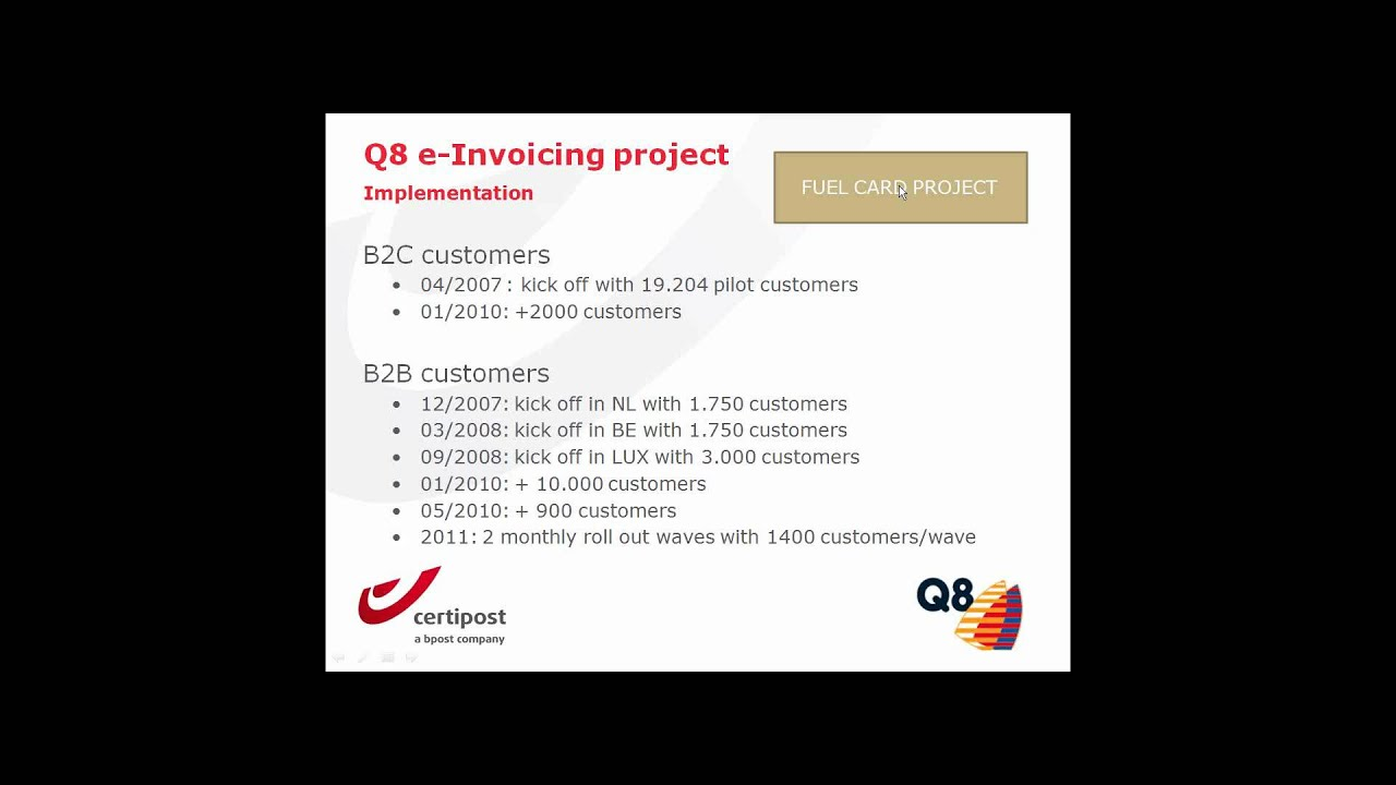 The Q8 (Kuwait Petroleum International) story: five factors to successfully  e-invoicing customers