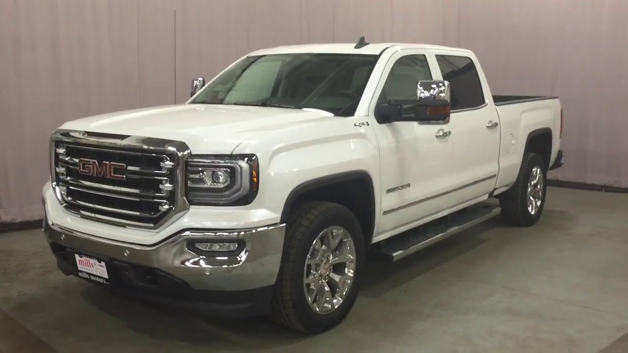 2016 Gmc Sierra 1500 Slt Crew Cab 4wd White Oshawa On
