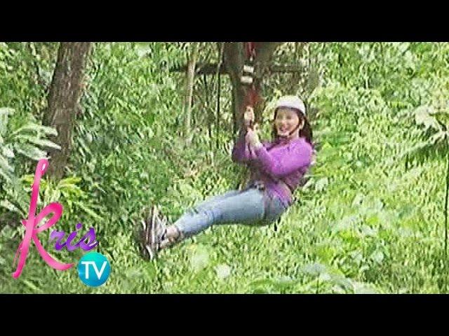 Kris TV: Kris rides a zipline
