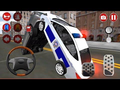 Türk Polis Oyunu #4- Polis Araba Oyunu, Direksiyonlu Polis Arabası Police Car Sim Android Gameplay