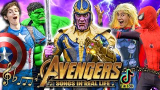 Avengers Songs In Real Life! - (Tik Tok Edition)