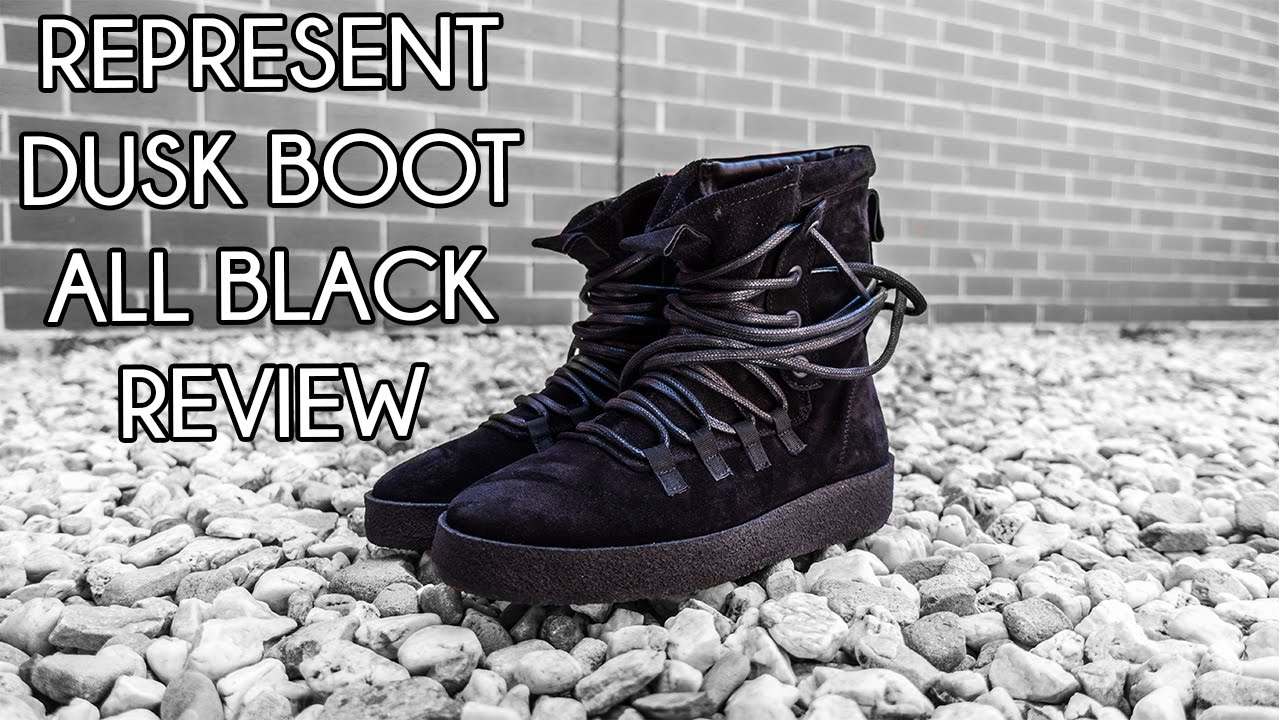 Represent Dusk Boot All Black On Feet Review Youtube