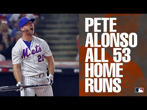 All 53 of Mets' rookie Pete Alonso's home runs in 2019   MLB Highlights