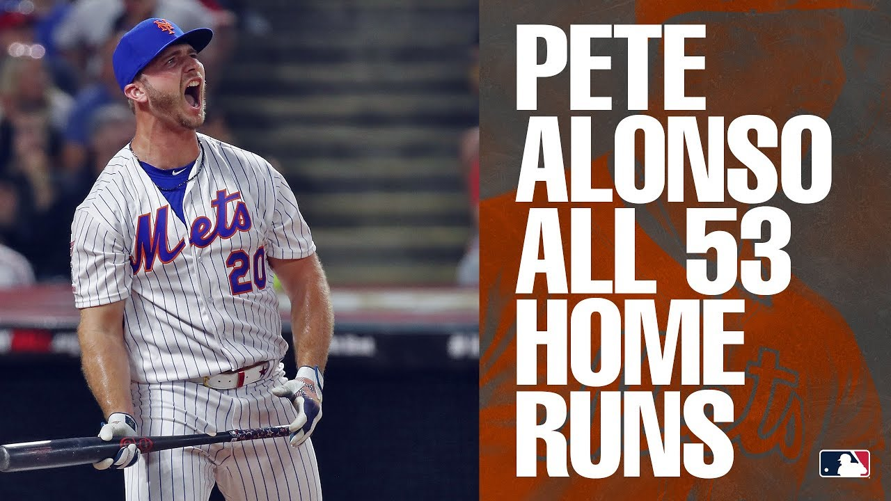 Longest Home Runs 2020.All 53 Of Mets Rookie Pete Alonso S Home Runs In 2019 Mlb Highlights