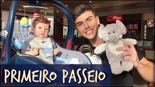 BEBE REBORN REAÇÃO DAS PESSOAS NO SHOPPING PRIMEIRO PASSEIO  PETER TOYS