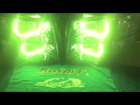 Custom Painted Silverado Headlights With LED Concept Halos Done By RoyalT  Custom Lighting