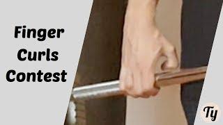 Finger Curls | +93kg/205lbs | March Grip Contest