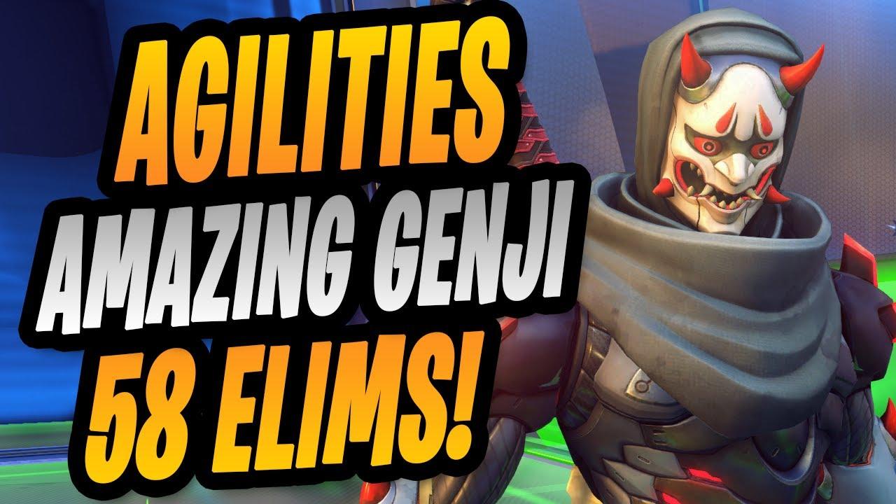 58 ELIMS - AGILITIES AMAZING GENJI ! 16K DMG ! [ OVERWATCH SEASON 23 ]