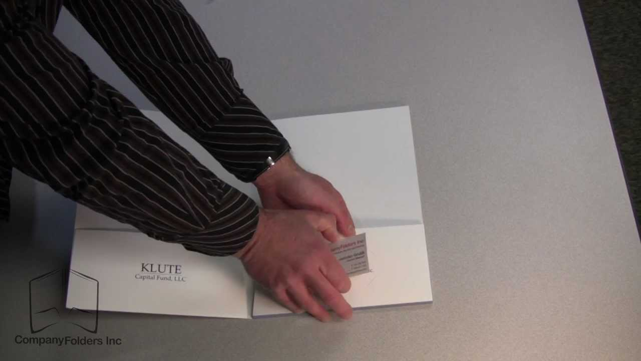 Presentation Folder with Business Card Slots - YouTube