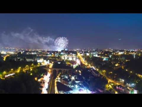 Luxembourg National Day Timelapse Drone 2017