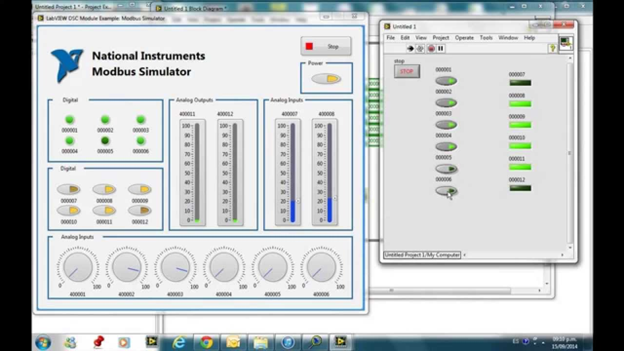 Modbus simulator