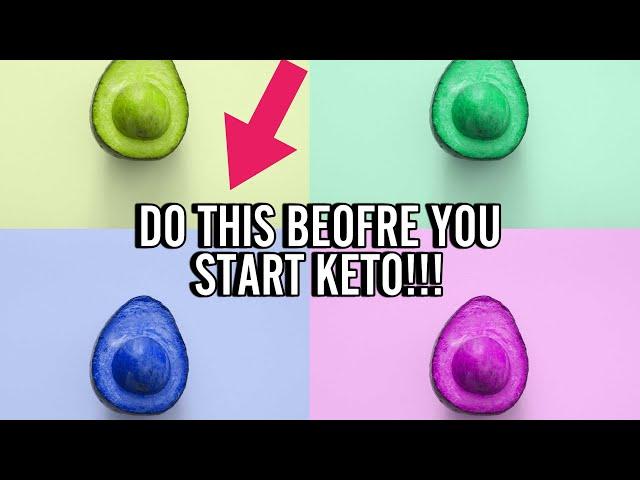 Do This BEFORE Starting Keto!