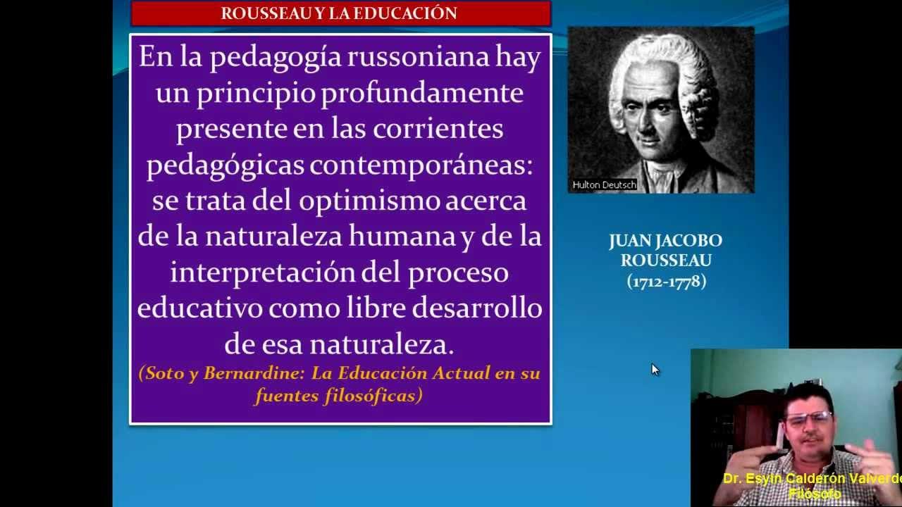 Rousseau Y La Educaci U00d3n