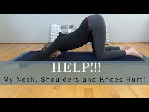Help! My Neck, Shoulders and Knees Hurt! How to Modify Melting Heart Yin Yoga Pose