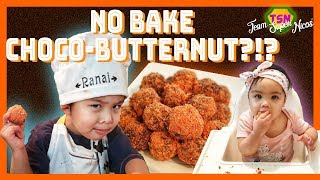Ranai tries tasty NO-BAKE CHOCO-BUTTERNUT (coconut energy balls) | Team Super Nicos