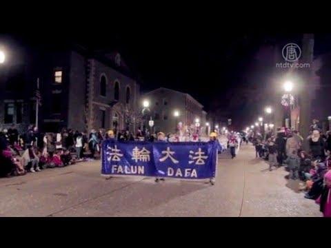 费城西郊圣诞游行 法轮功第十次受邀(西切斯特_天国乐团)