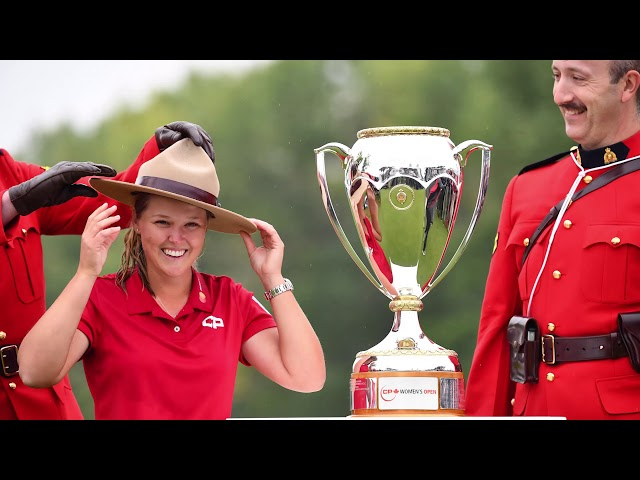 """The mayor of Smiths Falls, Ontario, says the town is extremely proud of its """"favourite daughter"""" Brooke Henderson after she won the CP Women's Open on Sunday. Golfers at Henderson's home course react to her historic win. (The Canadian Press)"""