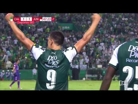 Juan Ignacio Dinenno anotó el empate parcial para Deportivo Cali ante Junior