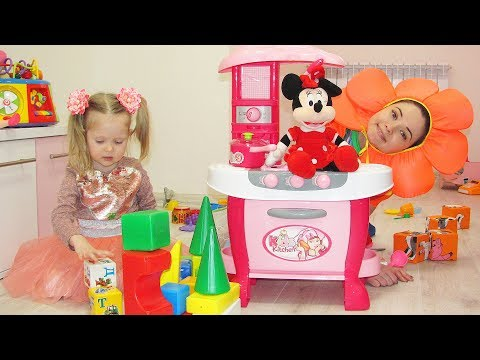 Nastya Funny Floret and toy Minnie Mouse plays Hide and Seek around the House