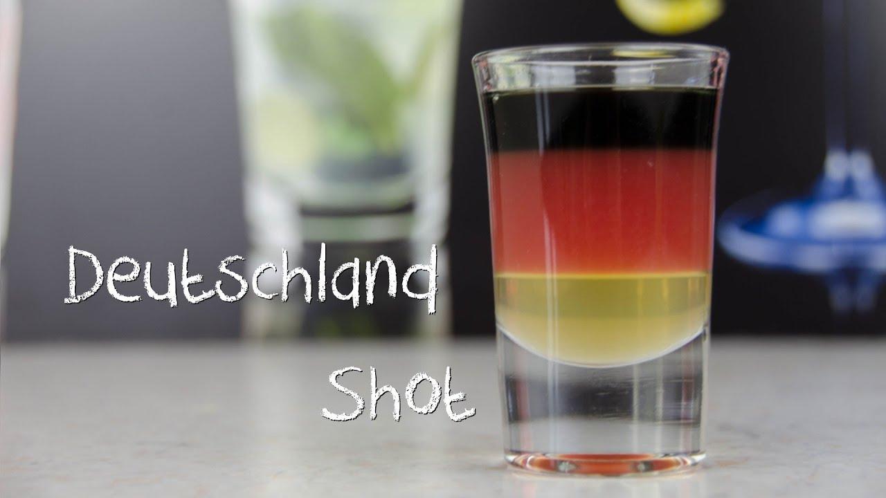 Deutschland Shot - der schwarz rot goldene Deutschland Cocktail ...