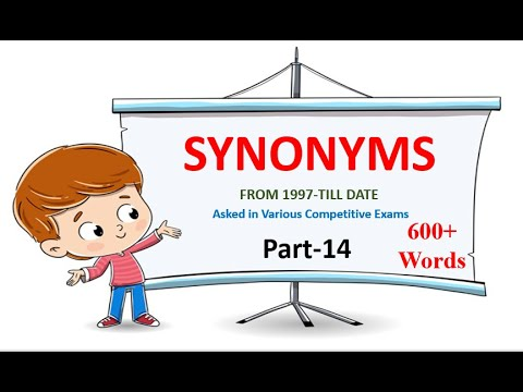 SYNONYMS Part-14 (From 1997-Till date) - YouTube