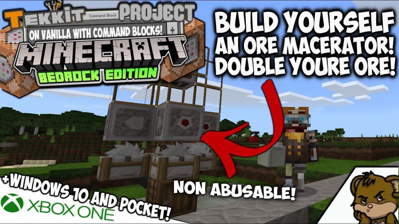 MACERATOR for Vanilla Minecraft! - DOUBLE YOUR ORE! - BEDROCK  (XboxOne,Win8,Pocket)
