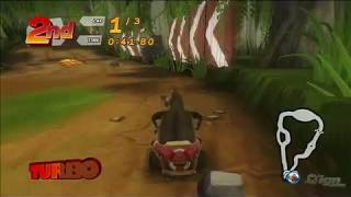 Madagascar Kartz PlayStation 3 Gameplay - Shrek Swamp