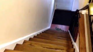 Molly tries to go down the stairs
