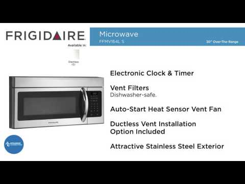 frigidaire ffmv164ls over the range microwave oven features