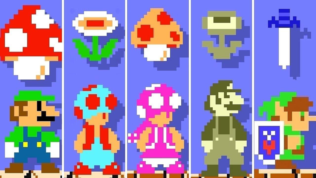 Super Mario Maker 2 All Characters Super Mario Bros Power Ups