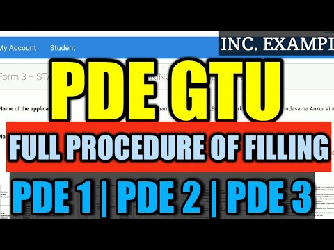 PDE GTU | PDE PROJECT SEM 8 | how to make PDE