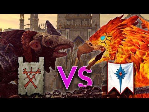 Who's More Lucky? - Skaven VS High Elves Competitive Multiplayer - Total War Warhammer 2