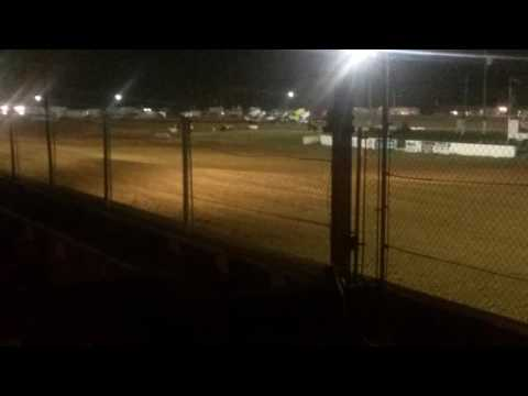 ASCoC Sprint Car B Main Part 1/2  Brownstown Speedway
