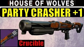 Destiny Party Crasher +1 Review! | BEST NEW SHOTGUN? | Crucible Shotgun