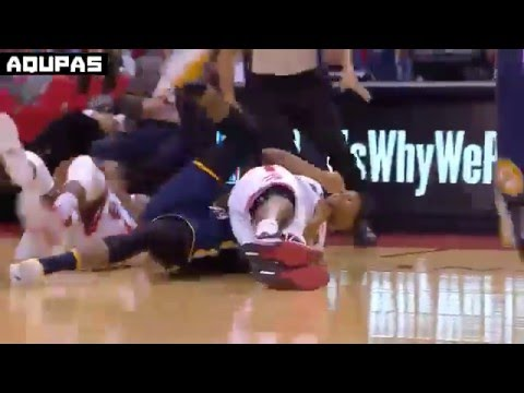 Paul George + Kyle Lowry Double Technical Fouls   RAPTORS vs PACERS   APR 26 2016 NBA Playoffs R1G5