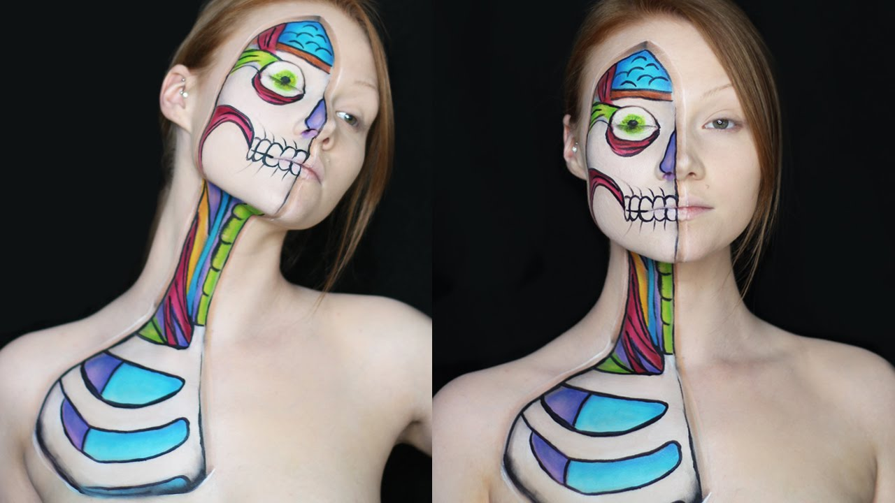 Cartoon Anatomy Makeup Tutorial - YouTube