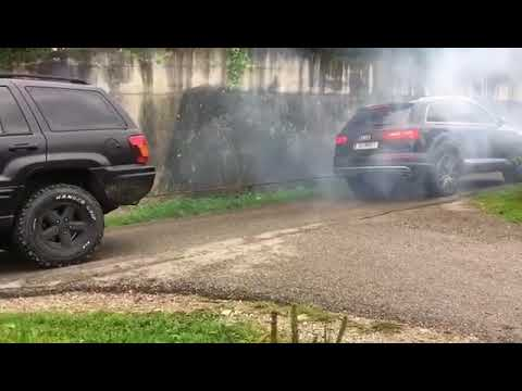 Audi Power - Jeep Grand Cherokee 4X4 vs Audi SQ7 Quattro - Tug of War 💪