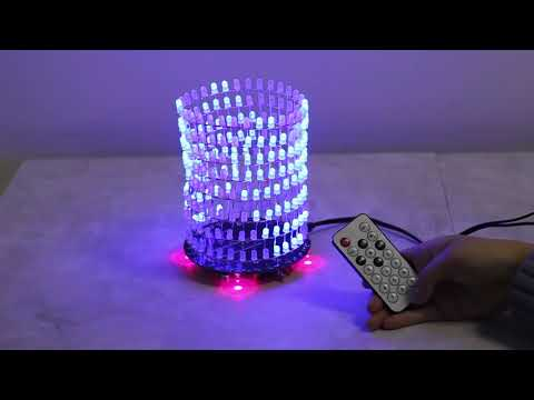 ICStation Funny Blue LED Light Cube for Xmas Birthday Gift